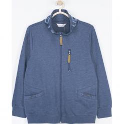 Bluza. Niebieskie bluzy chłopięce rozpinane marki SPEEDWAY, z aplikacjami, z bawełny, z długim rękawem, długie. Za 95,90 zł.