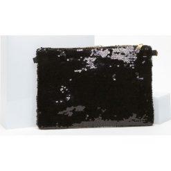 Puzderka: Torebka kopertówka cekinowa czarna