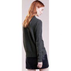 Swetry klasyczne damskie: 2nd Day Sweter dark grey melange
