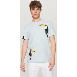 T-shirty męskie: T-shirt w tukany – Niebieski