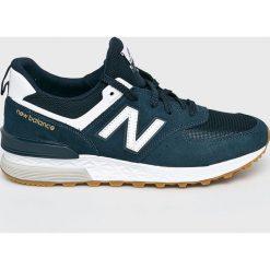 New Balance - Buty MS574FCN. Brązowe buty fitness męskie marki New Balance, z materiału, na sznurówki. Za 449,90 zł.