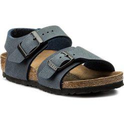 Sandały BIRKENSTOCK - New York Kids Bs 0087773 Navy. Niebieskie sandały męskie skórzane marki Birkenstock. Za 199,00 zł.