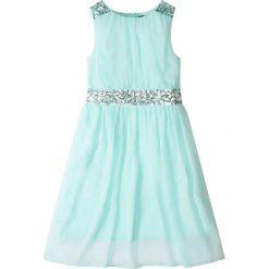 Odzież dziecięca: Sukienka na party, z cekinami bonprix pastelowy miętowy