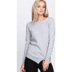 Szary Sweter Lifetime. Szare swetry klasyczne damskie Born2be, l, z okrągłym kołnierzem. Za 59,99 zł.