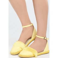 Żółte Espadryle Touching My Heart. Żółte espadryle damskie marki Born2be, z materiału, na platformie. Za 59,99 zł.