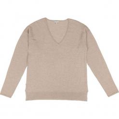 Sweter kaszmirowy w kolorze jasnobrązowym. Brązowe swetry klasyczne damskie marki Ateliers de la Maille, z kaszmiru. W wyprzedaży za 500,95 zł.