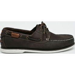 Wrangler - Mokasyny Ocean Leather. Czarne mokasyny męskie Wrangler, z gumy. W wyprzedaży za 269,90 zł.