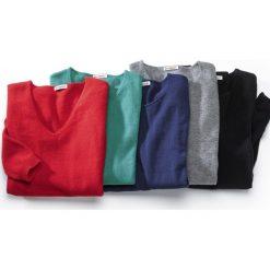 Swetry damskie: Pulower z dekoltem w kształcie litery V wykonany z cienkiej kaszmirowej dzianiny