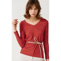 Simple - Bluzka. Szare bluzki asymetryczne Simple, z dzianiny, casualowe. W wyprzedaży za 159,90 zł.