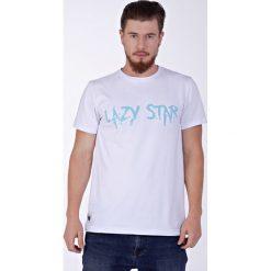 Lazy Star white t-shirt. Białe t-shirty męskie z nadrukiem Pakamera, m, z zamszu. Za 69,00 zł.