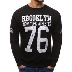 Bluzy męskie: Bluza męska z nadrukiem czarna (bx1329)