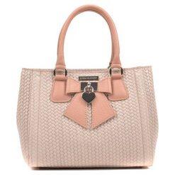 Torebki klasyczne damskie: Skórzana torebka w kolorze różowym – (S)22 x (W)28 x (G)13 cm