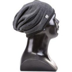CZAPKA MĘSKA H026 - GRAFITOWA. Szare czapki zimowe męskie Ombre Clothing, z bawełny. Za 14,99 zł.