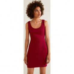 Mango - Sukienka Nuvertu. Różowe sukienki dzianinowe Mango, na co dzień, l, casualowe, na ramiączkach, mini, dopasowane. Za 79,90 zł.