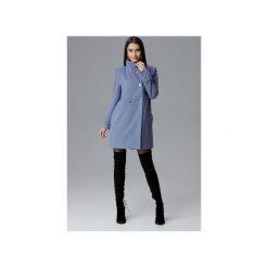 Płaszcz M623 Niebieski. Niebieskie płaszcze damskie pastelowe FIGL, m, eleganckie. Za 299,00 zł.