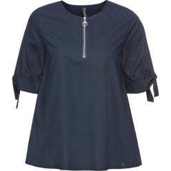 Bluzki damskie: Bluzka z zamkiem bonprix ciemnoniebieski