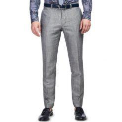 szare spodnie eleganckie męskie h&m
