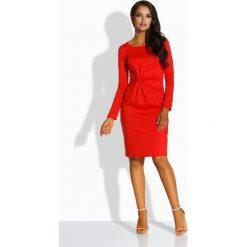 Sukienki: Elegancka dopasowana sukienka czerwony