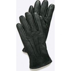 Jack & Jones - Rękawiczki skórzane. Czarne rękawiczki męskie Jack & Jones, z materiału. W wyprzedaży za 119,90 zł.