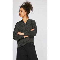 Vero Moda - Koszula Cate. Szare koszule damskie marki Vero Moda, m, z poliesteru, casualowe, ze stójką, z długim rękawem. W wyprzedaży za 79,90 zł.
