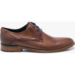 Wojas - Półbuty. Brązowe buty wizytowe męskie Wojas, z materiału, na sznurówki. W wyprzedaży za 314,91 zł.
