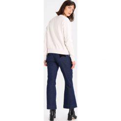 Bluzy damskie: Hunkydory ZIP CREW Bluza soft white