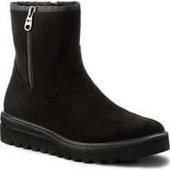 Botki TAMARIS - 1-25986-39 Black Suede 004. Szare buty zimowe damskie marki Tamaris, z materiału. W wyprzedaży za 169,00 zł.