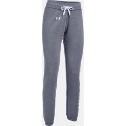 Spodnie damskie: Under Armour Spodnie damskie Favorite Fleece Pant szaro-białe r. S (1302363-090)