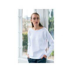 Bluzy damskie: OVAL WHITE – bluza oversize biała