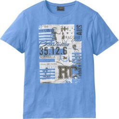 T-shirty męskie z nadrukiem: T-shirt Regular Fit bonprix średni niebieski
