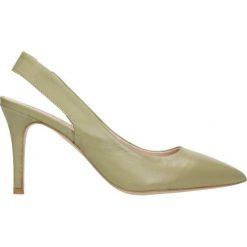 Czółenka SAVONA. Brązowe buty ślubne damskie Gino Rossi, ze skóry, na wysokim obcasie, na szpilce. Za 169,90 zł.