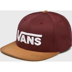 Vans - Czapka. Brązowe czapki z daszkiem męskie marki Vans, z materiału. Za 119,90 zł.