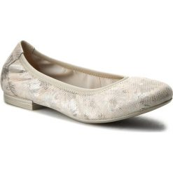 Baleriny CAPRICE - 9-22100-28 Lt Grey Comb 208. Szare baleriny damskie lakierowane Caprice, ze skóry ekologicznej, na płaskiej podeszwie. W wyprzedaży za 169,00 zł.