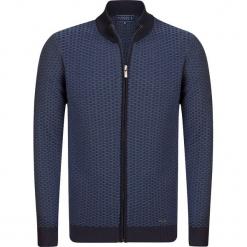 """Kardigan """"Deloft"""" w kolorze niebieskim. Niebieskie kardigany męskie marki Sir Raymond Taylor, m, z bawełny, ze stójką. W wyprzedaży za 227,95 zł."""