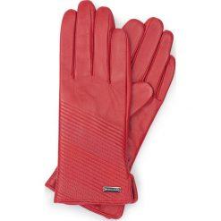 Rękawiczki damskie 39-6-567-2T. Czerwone rękawiczki damskie Wittchen, z polaru. Za 99,00 zł.