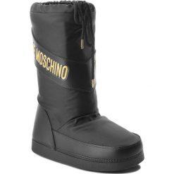 Śniegowce LOVE MOSCHINO - JA24012G16IK100A Nero. Szare buty zimowe damskie marki Love Moschino, z materiału. Za 479,00 zł.
