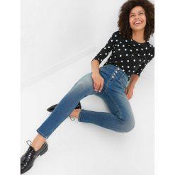 Jeansy skinny z wysokim stanem. Żółte jeansy damskie marki Orsay, s, z bawełny, z golfem. Za 149,99 zł.