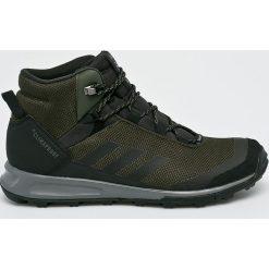Adidas Performance - Buty Terrex Tivid Mid. Brązowe buty trekkingowe męskie adidas Performance, z materiału, na sznurówki, outdoorowe, climaproof (adidas). W wyprzedaży za 479,90 zł.