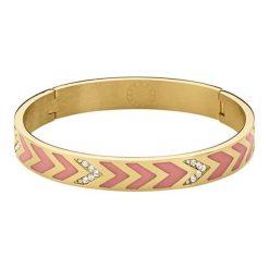 Bransoletki damskie: Bransoletka w kolorze złotym z kryształami