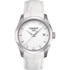 RABAT ZEGAREK TISSOT T- CLASSIC T035.210.16.011.00. Białe zegarki damskie TISSOT, ze stali. W wyprzedaży za 1051,59 zł.