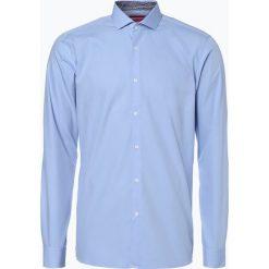 HUGO - Koszula męska łatwa w prasowaniu – Errik, niebieski. Niebieskie koszule męskie marki HUGO, m, z bawełny. Za 349,95 zł.