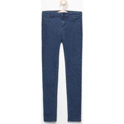 Spodnie dziewczęce: Spodnie jeansowe skinny – Granatowy