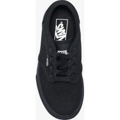 Vans - Tenisówki dziecięce. Czarne tenisówki męskie marki Vans, z materiału, na sznurówki. W wyprzedaży za 179,90 zł.