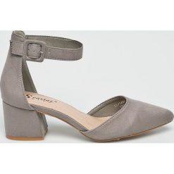 Answear - Sandały Seastar Blue. Szare sandały damskie na słupku marki ANSWEAR, z gumy. W wyprzedaży za 89,90 zł.