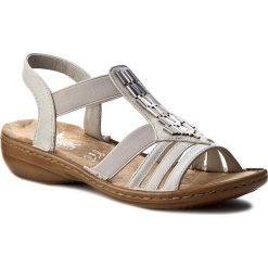 Rzymianki damskie: Sandały RIEKER – 60800-80 Weiss