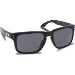Okulary przeciwsłoneczne OAKLEY - Holbrook OO9102-E855 Matte Black/Prizm Grey. Czarne okulary przeciwsłoneczne męskie aviatory Oakley, z tworzywa sztucznego. W wyprzedaży za 449,00 zł.