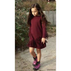 Sukienka Macrama bordo. Brązowe sukienki dziewczęce Pakamera, z bawełny, eleganckie. Za 105,00 zł.