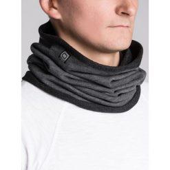KOMIN MĘSKI A063 - GRAFITOWY. Szare szaliki męskie Ombre Clothing, z bawełny. Za 14,99 zł.