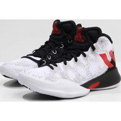 Adidas Performance CRAZY HEAT  Obuwie do koszykówki white/scarle/black. Brązowe buty sportowe męskie marki adidas Performance, z gumy. W wyprzedaży za 223,20 zł.