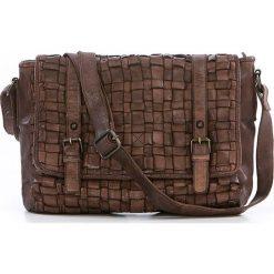 Torebki klasyczne damskie: Skórzana torebka w kolorze brązowym – 27 x 23 x 11 cm